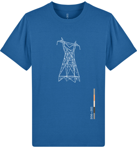 'Pylon' Organic Cotton Royal Blue T-shirt