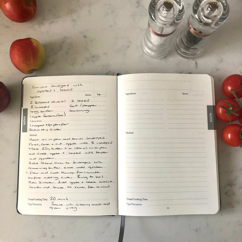 Our NEW Bespoke Hand Bound Recipe Journal...