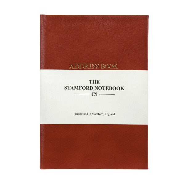 Hand Bound Leather Address Book