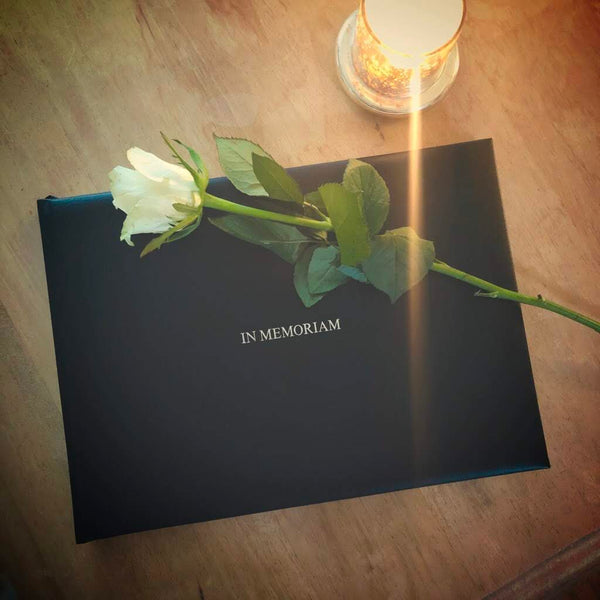 Hand Bound Leather Condolence Book
