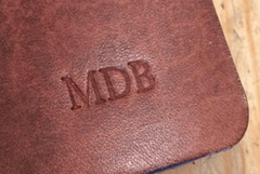 Initials Blind Embossed on Notebook