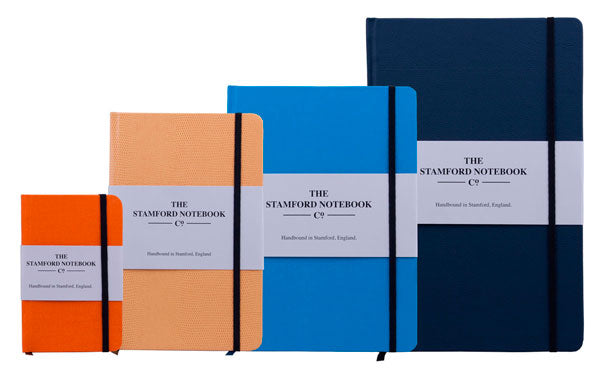 notebooks showing four sizes available - the stamford notebook company