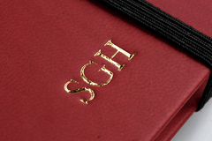 Gold Initials Embossed on Notebook