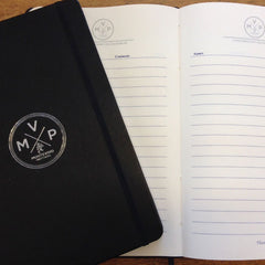 Notebook showing bespoke custom printed Pages
