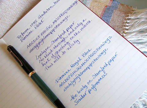 example of fountain pen friendly paper