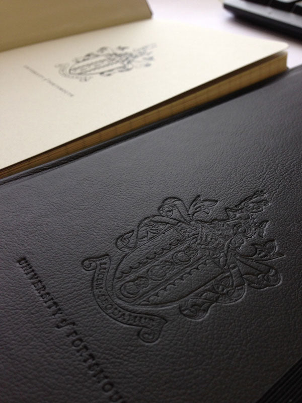 Branded Endpapers can be used on our handmade notebooks