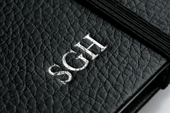 Silver Initials Embossed on Notebook
