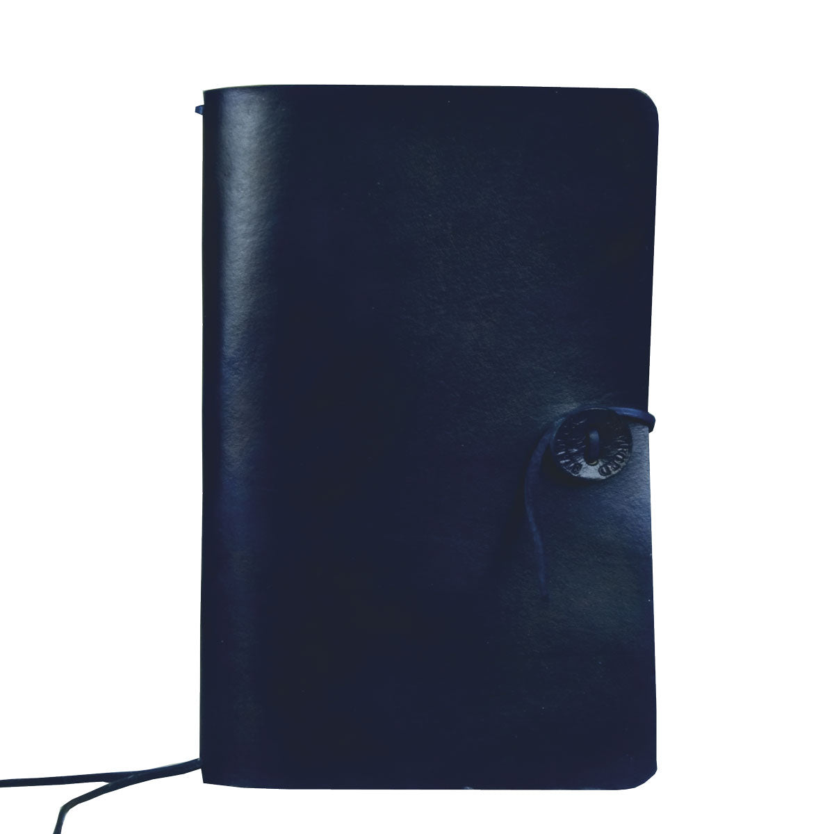 Dark Blue leather refillable travellers journal