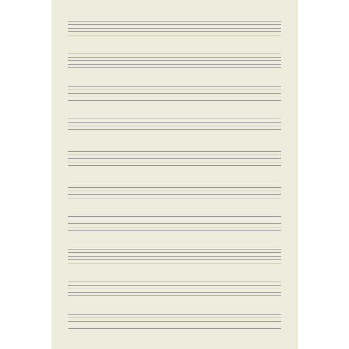 Page Layout of Leather Music Manuscript Notebook