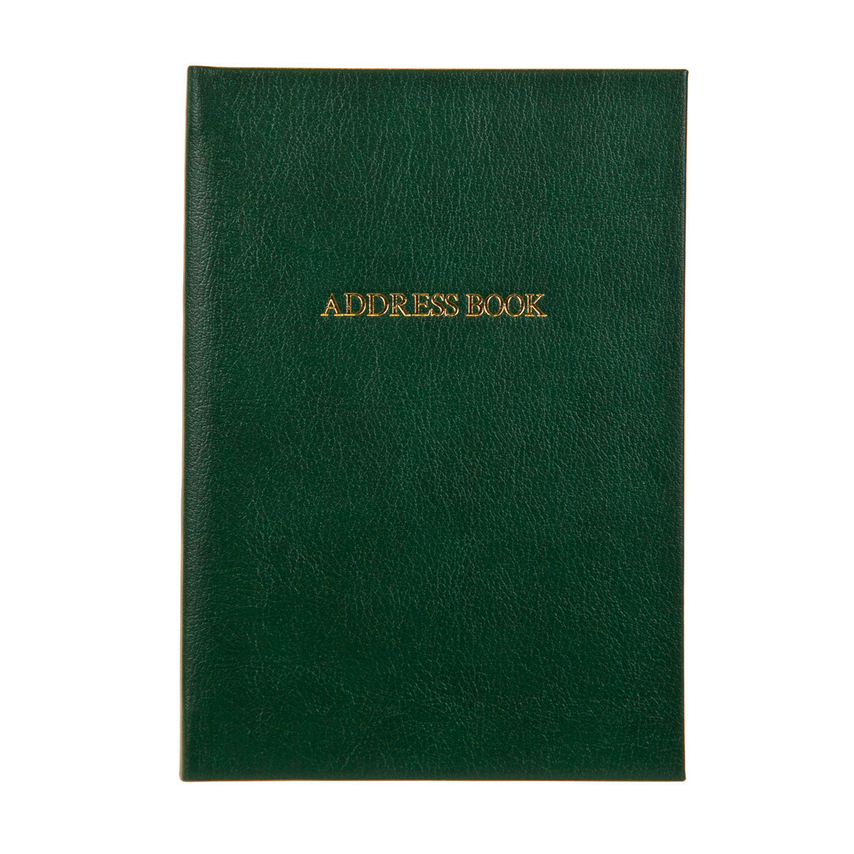Green Leather Address book with gold embossed title