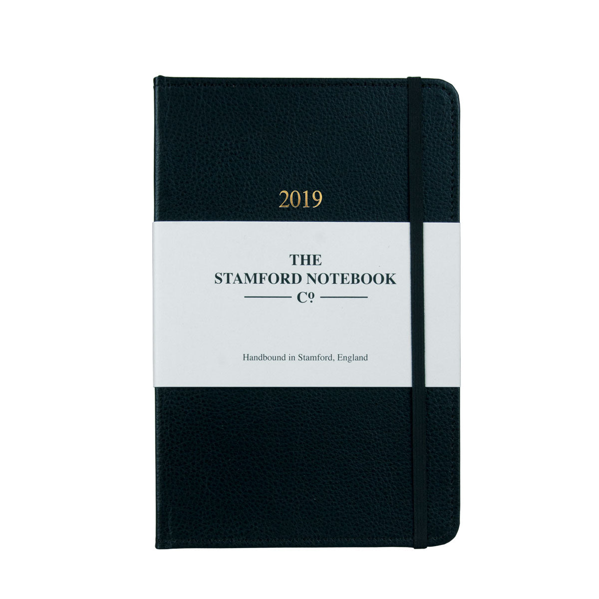 Stitched Leather Diary - Black