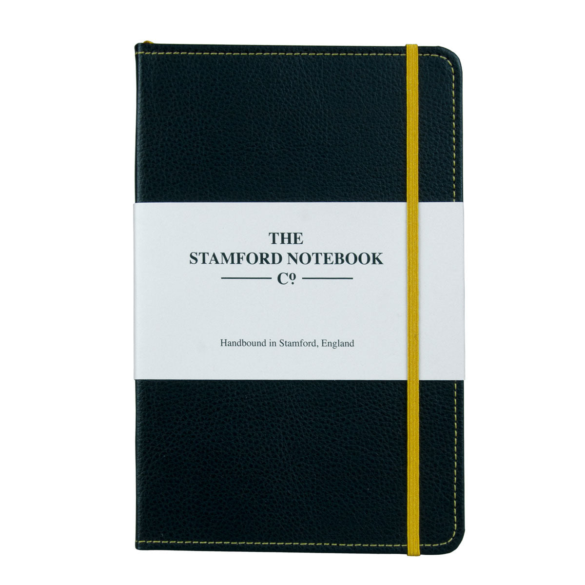 Stitched Leather Notebook - Black