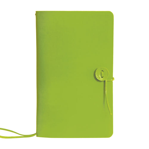 Green leather refillable travellers journal