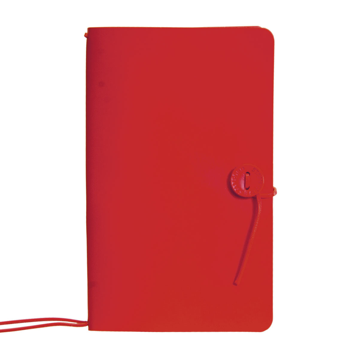 Red leather refillable travellers journal
