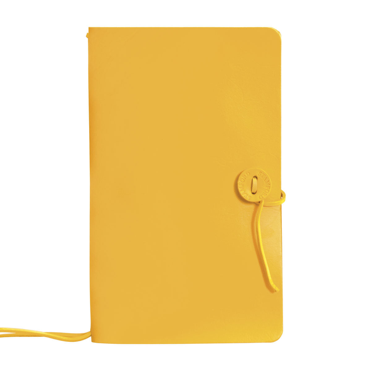 yellow leather refillable travellers journal