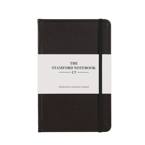 Stitched Leather Notebook - Dark Brown