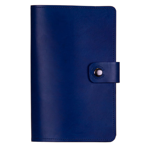 Royal Blue Burghley Leather Refillable Journal