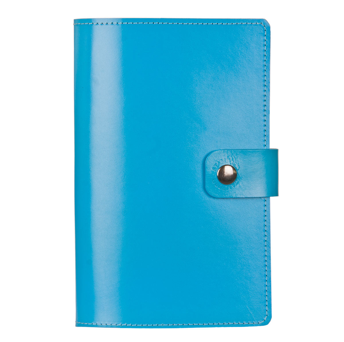 Blue Burghley leather refillable journal