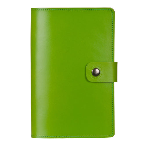 Green Burghley leather refillable journal