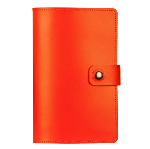 orange Burghley leather refillable journal