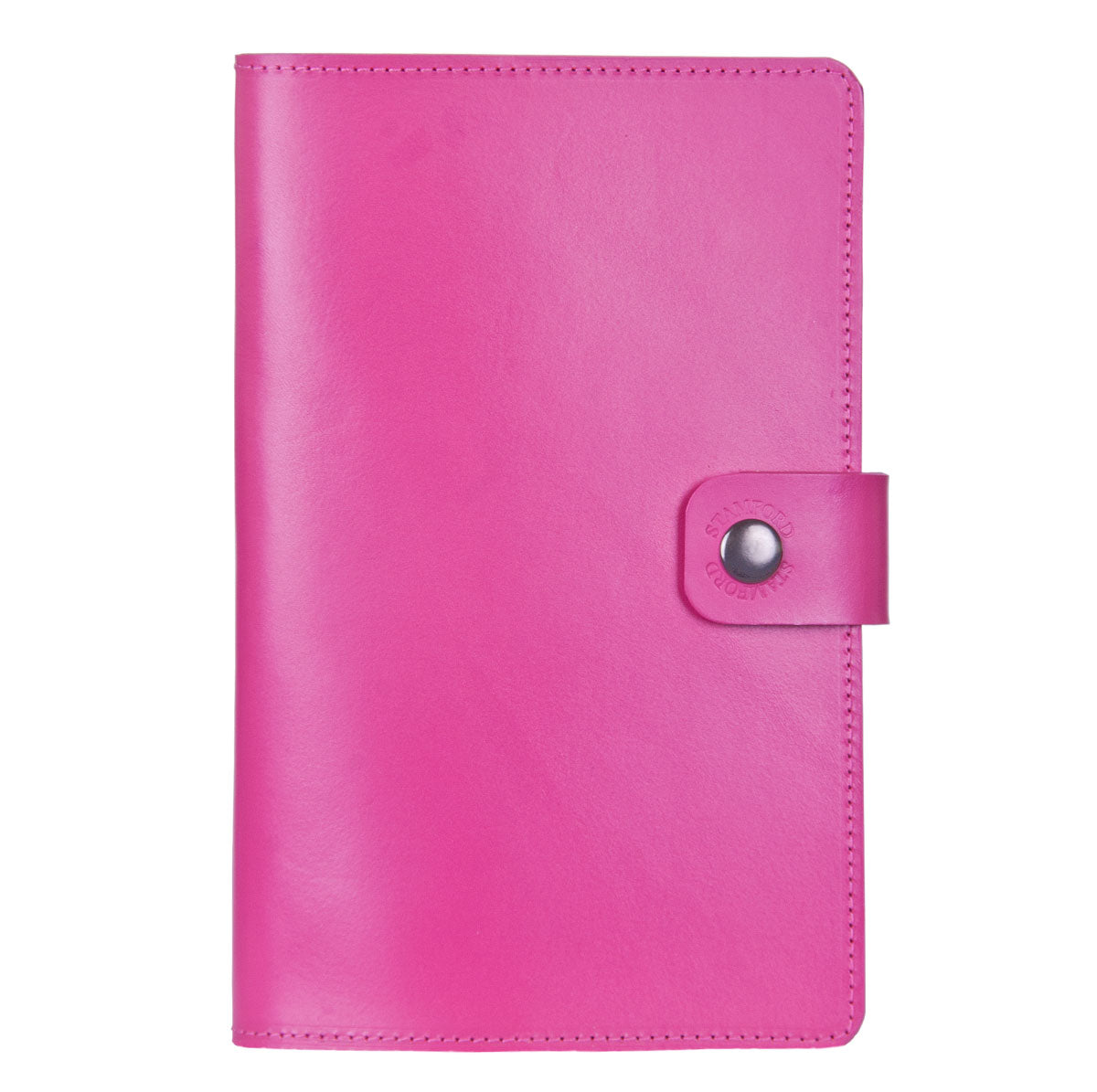 Bright Pink Burghley leather refillable journal