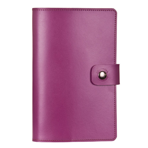 Purple Burghley leather refillable journal