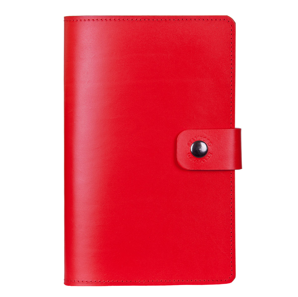 Red Burghley refillable leather journal