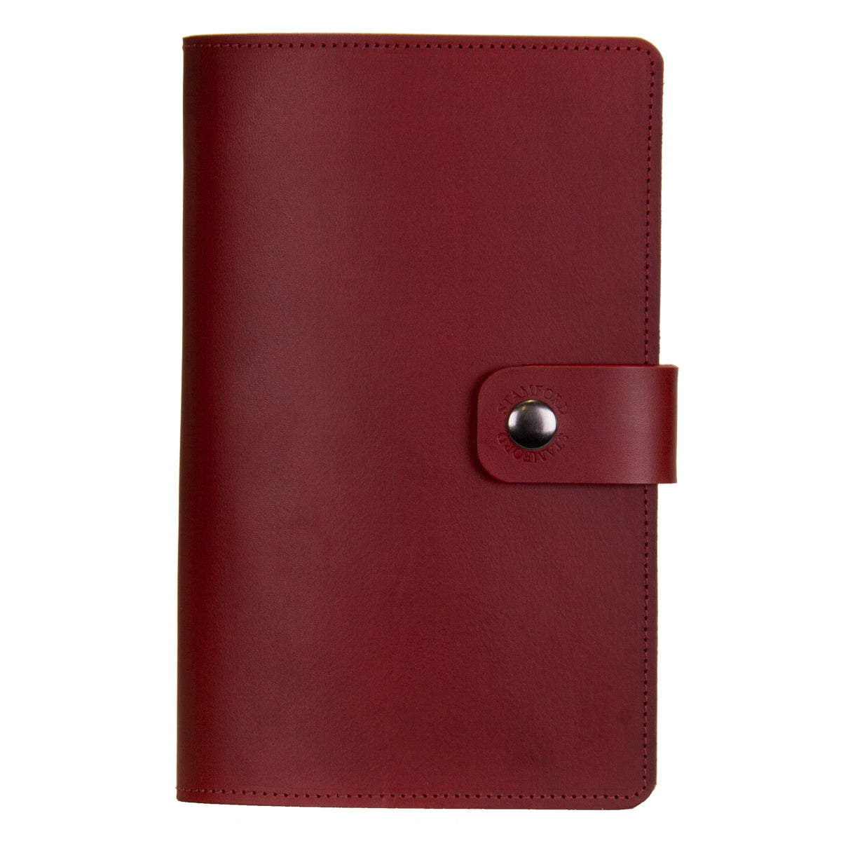 The Burghley Refillable Leather Journal Classic Range - Burgundy