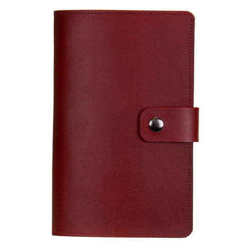 Burgundy Burghley Leather Refillable Journal