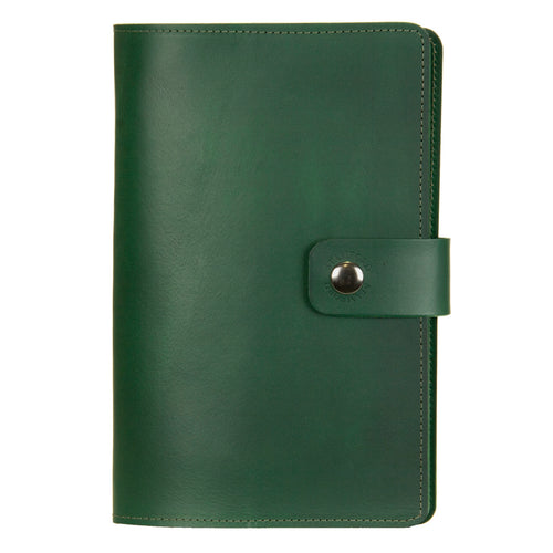 Dark Green Burghley Leather Refillable Journal