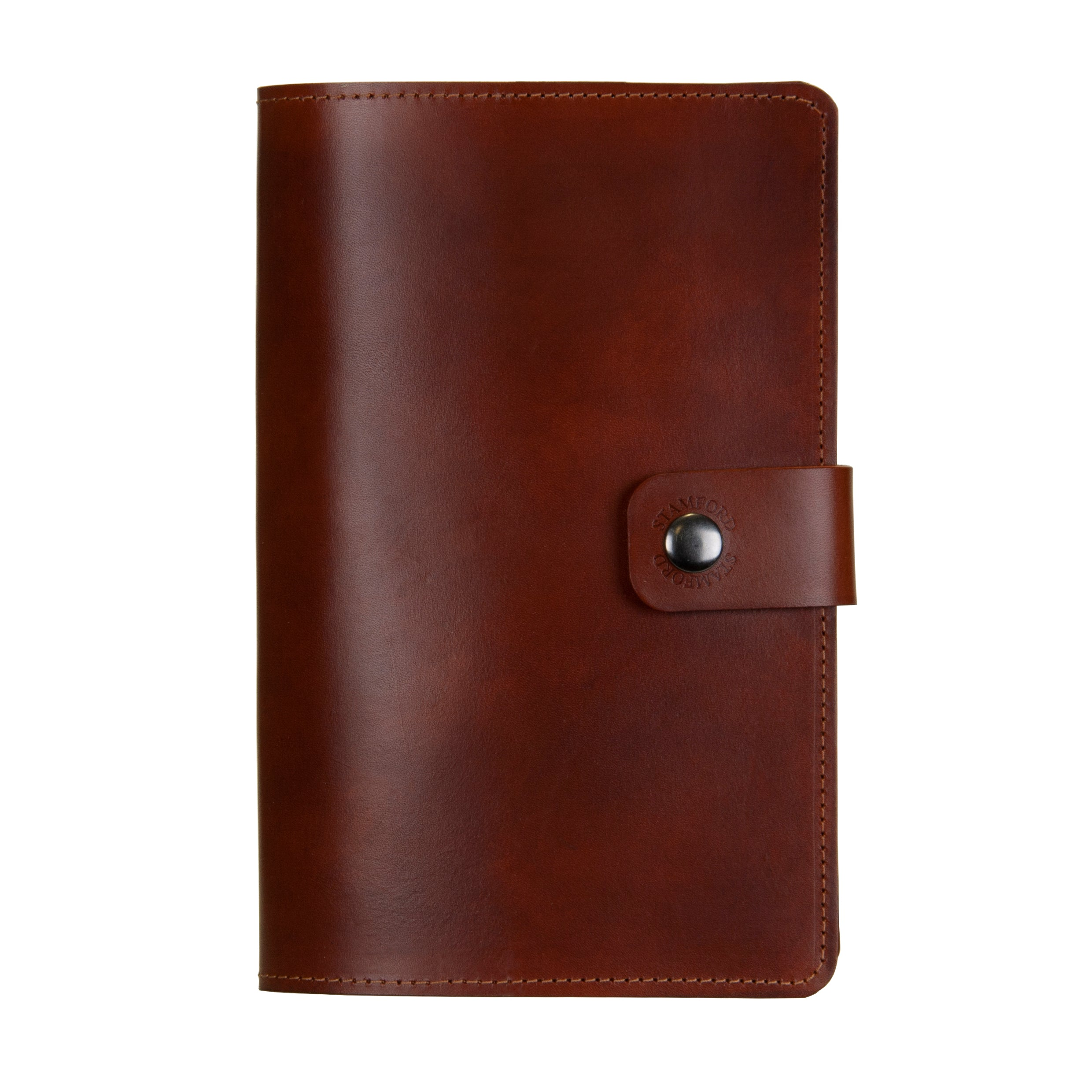 Mid Brown Burghley Leather Refillable Journal