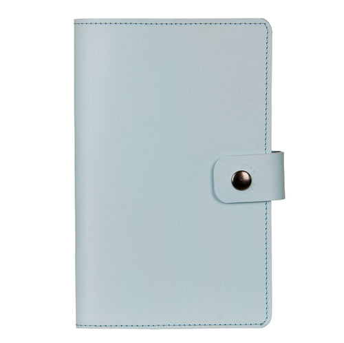 baby blue Burghley leather refillable journal