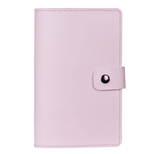 baby pink Burghley leather refillable journal