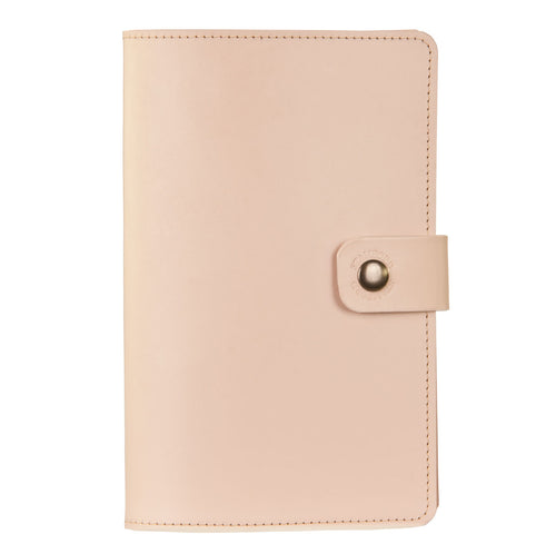 champagne Burghley leather refillable journal