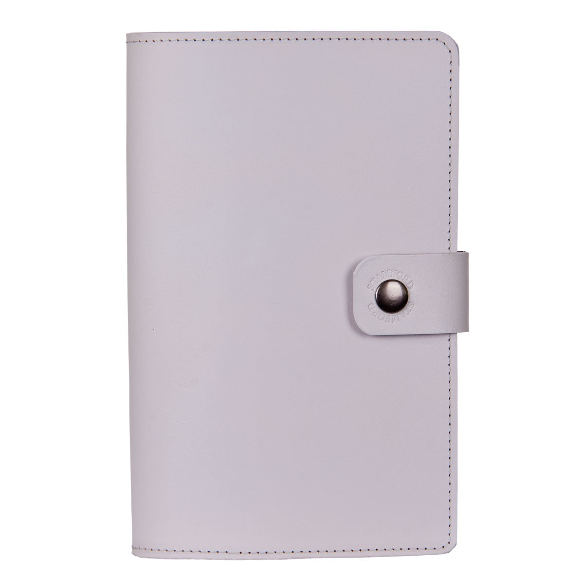 light grey Burghley leather refillable journal