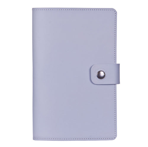 mid grey Burghley leather refillable journal