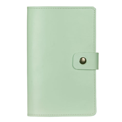 mint green Burghley leather refillable journal