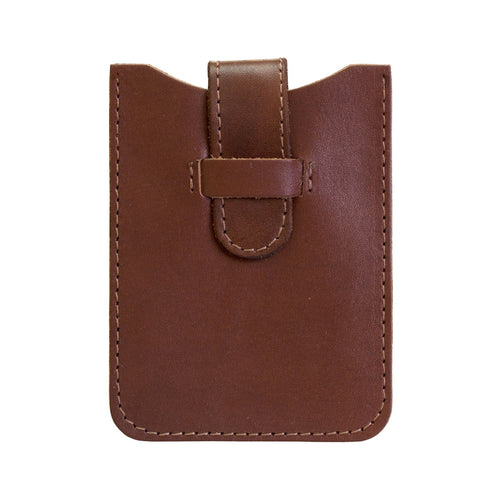 Leather Business Card Holder - Mid Brown