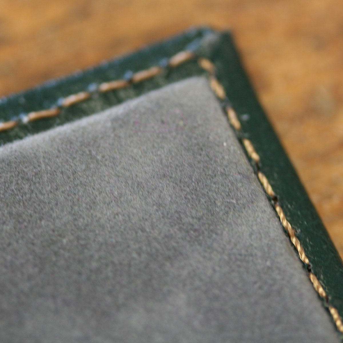 recycled leather desk blotter