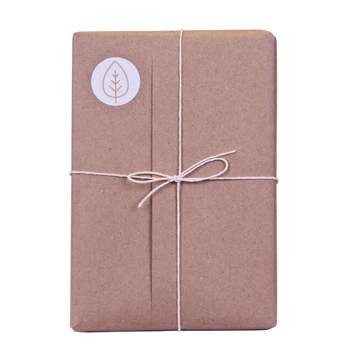 brown paper wrap with cotton twine