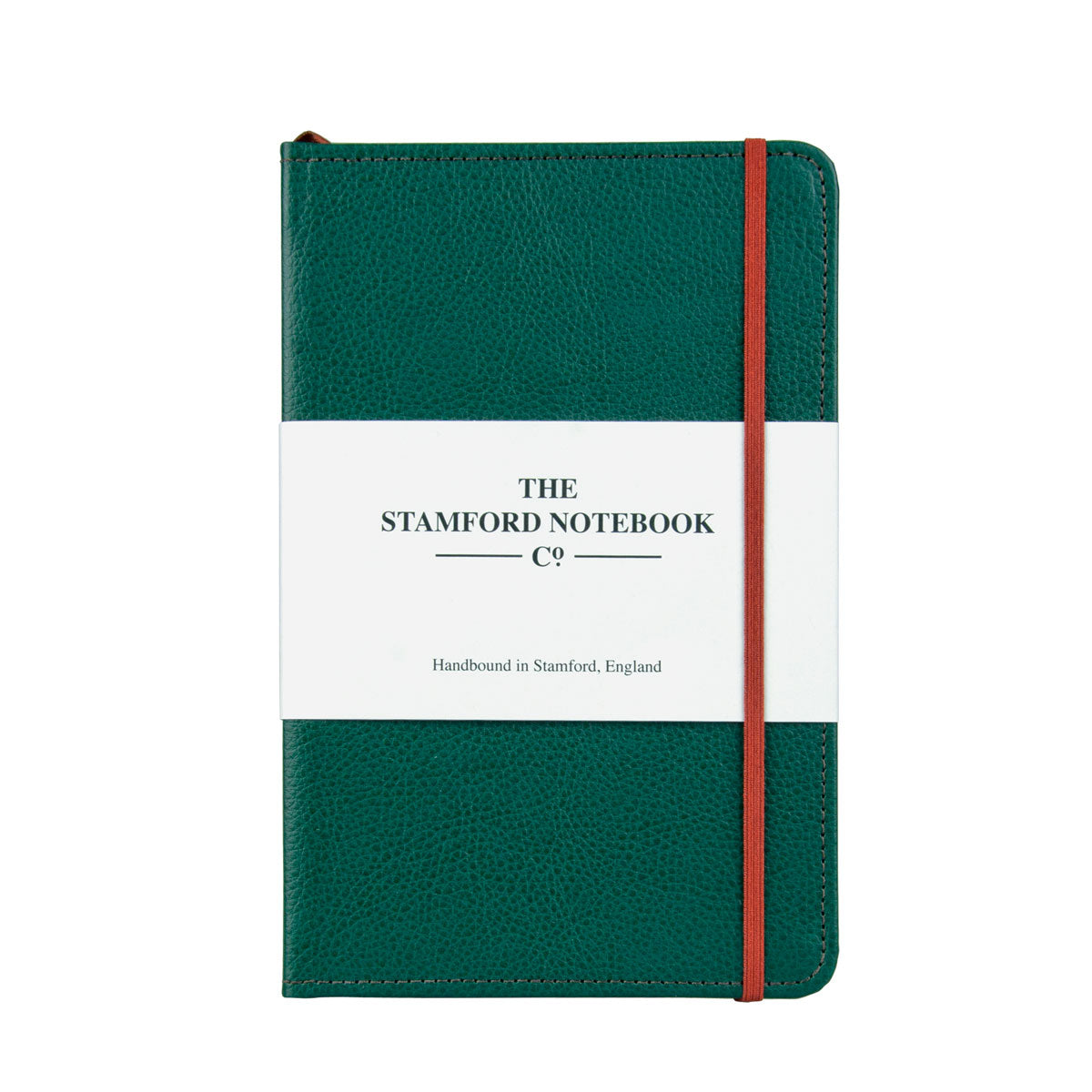 Stitched Leather Notebook - Green
