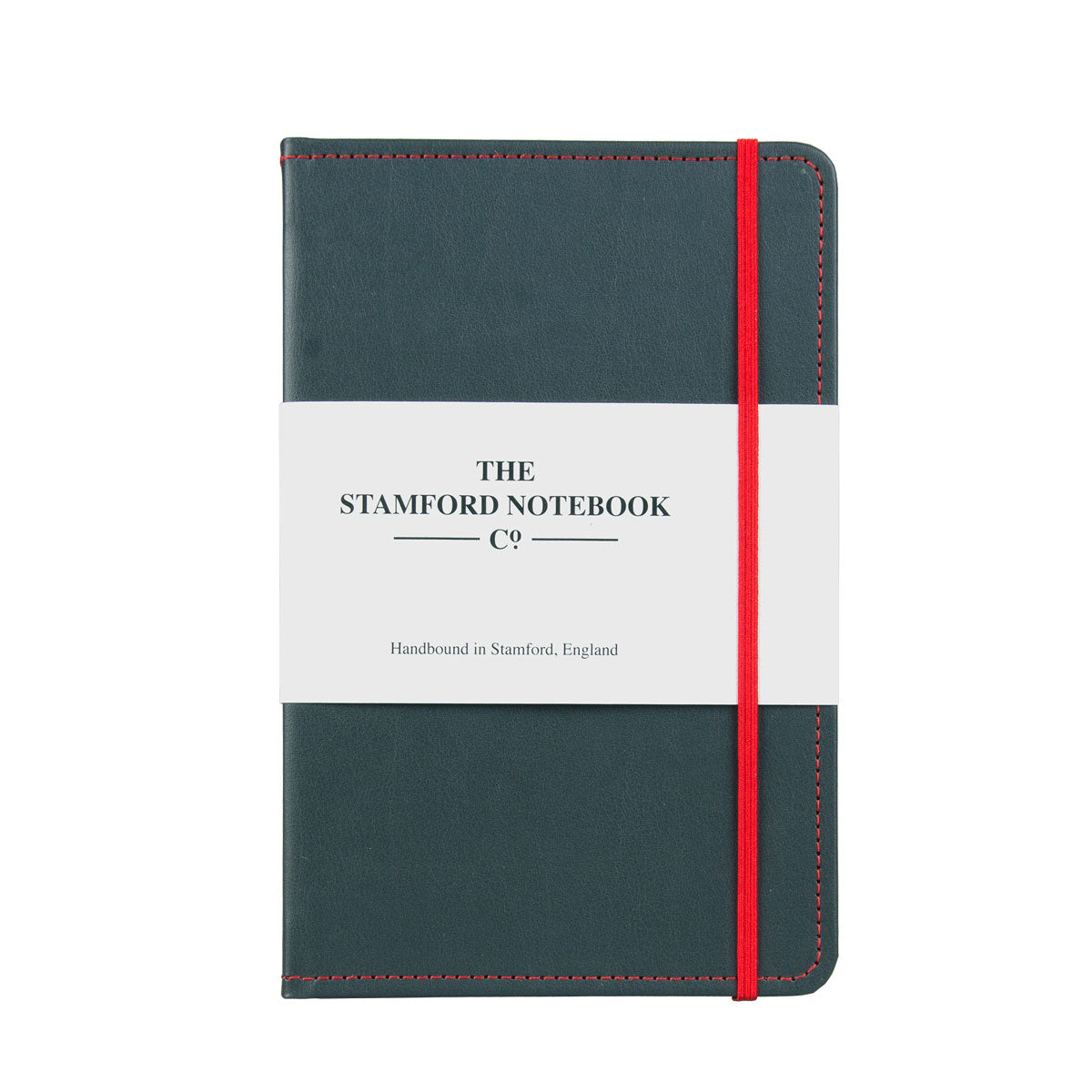 Stitched Leather Notebook - Grey