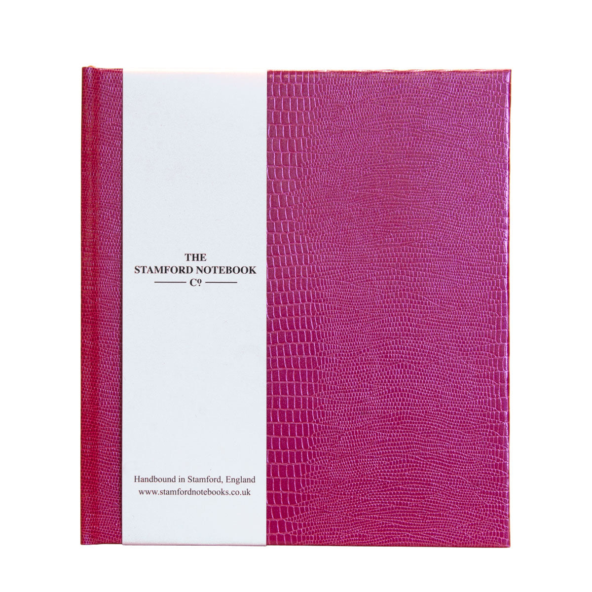 Fuxia Iguana embossed handbound notebook