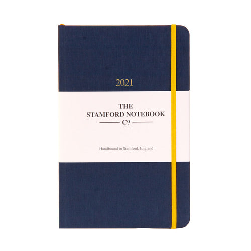 The Limited Edition Woven Cloth Diary - Navy