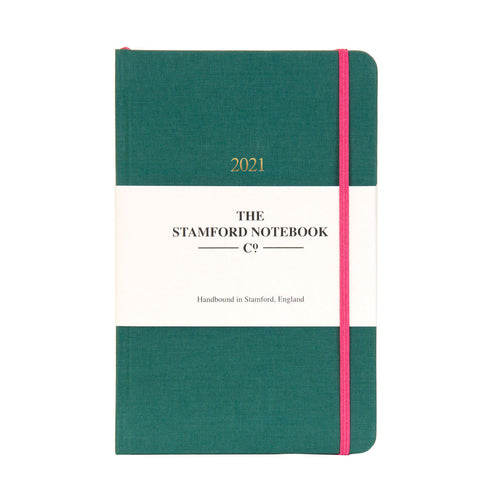 The Limited Edition Woven Cloth Diary - Ocean Green
