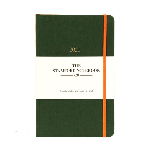 The Limited Edition Woven Cloth Diary - Racing Green