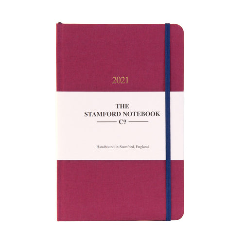 The Limited Edition Woven Cloth Diary - Raspberry