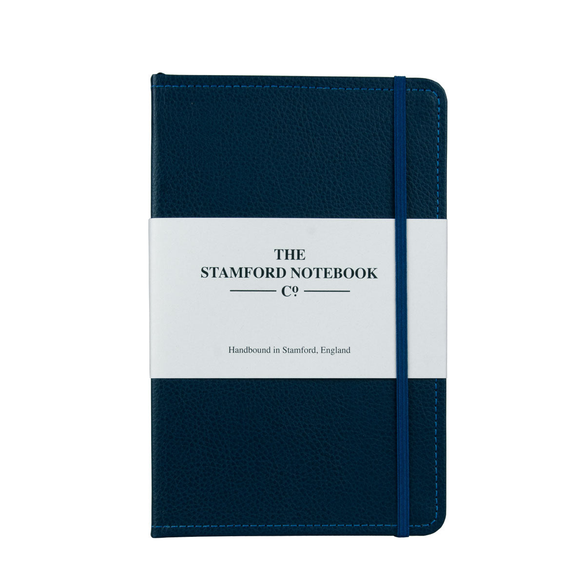 Marine Blue leather notebook with navy stitching