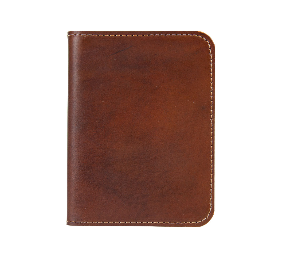 Handmade Leather Wallet - Mid Brown