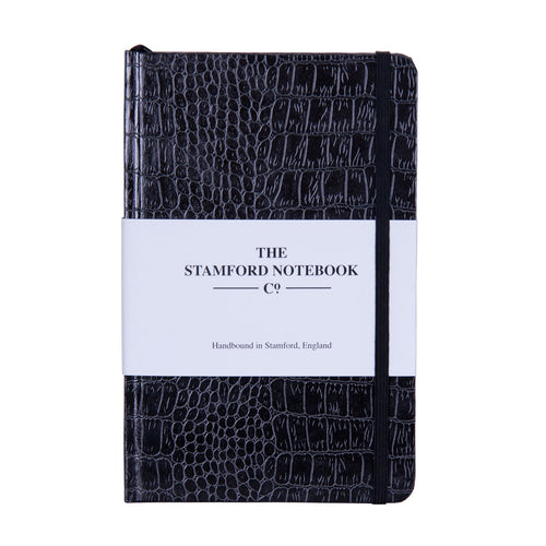 Mock Croc Embossed Handbound Notebook